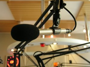 microphone at the radio station