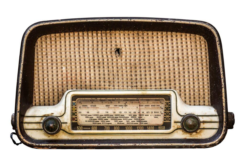 Isolated Vintage Radio Set